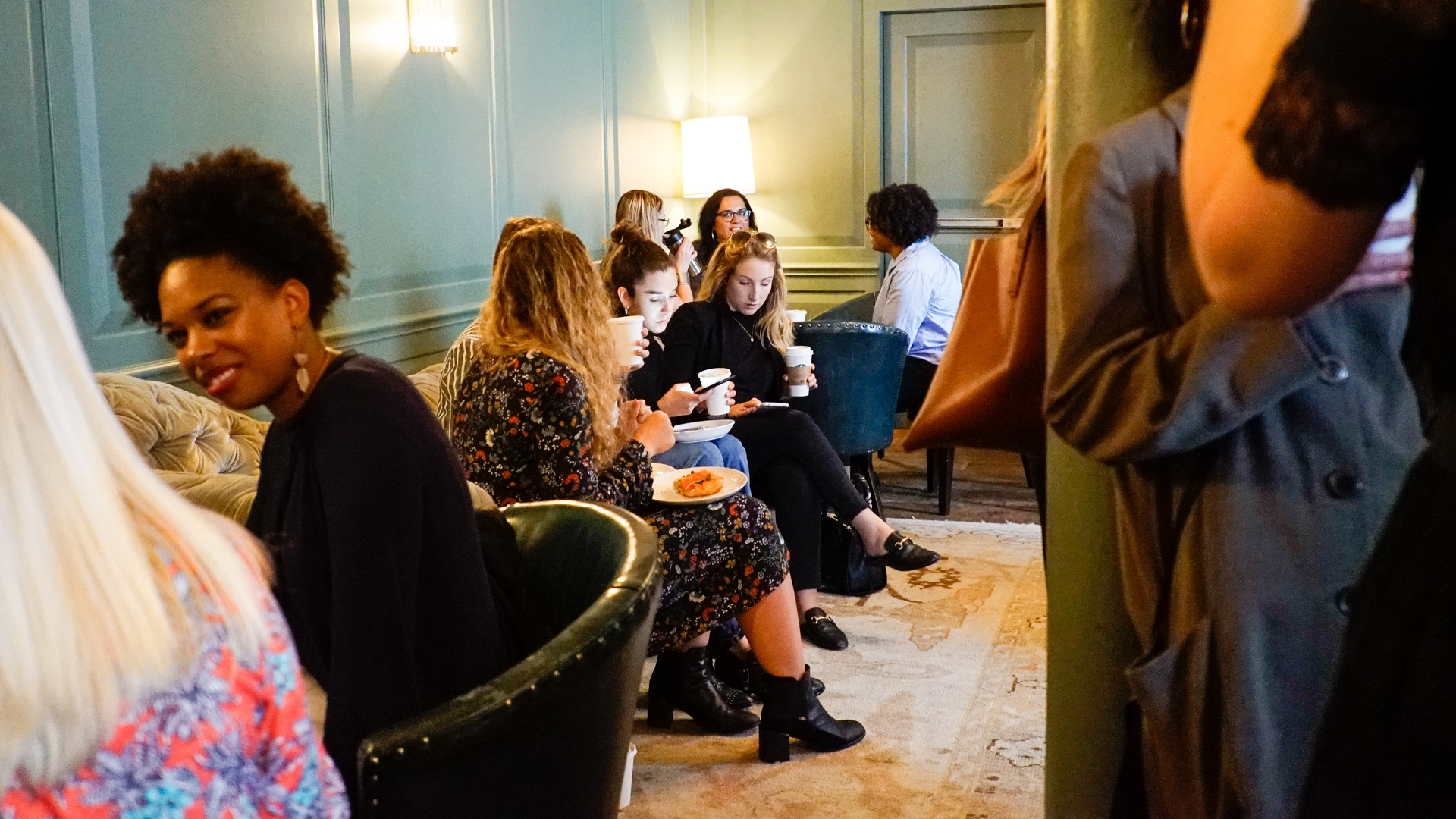 Networking with peers over croissants and coffee